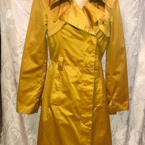 BeBe Gold Pink Satin Lined Trench Coat